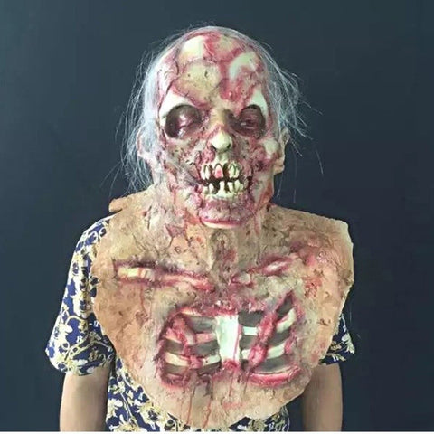 Ghost Face Zombie Mask Horror Halloween Costume