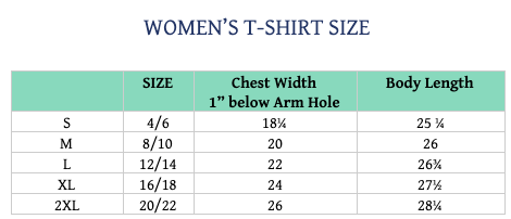 Women's T-Shirt Size - Relaxed Fit