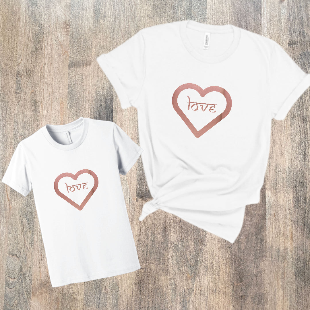 MOMMY & ME VALENTINES LOVE  ❤️  T-SHIRT