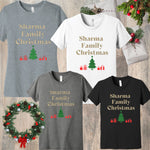 [PRE-ORDER] CUSTOM FAMILY NAME CHRISTMAS HOLIDAY T-SHIRT