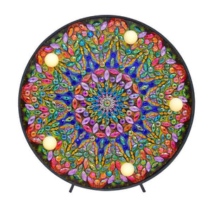 Diamond Painting Lamp Meerkleurige Mandala