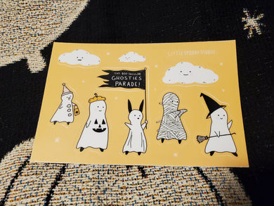 Ghostie Parade Sticker Sheet