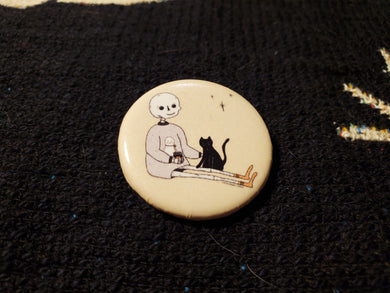 Self Care Skelly Button