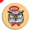 Whom Owl Button