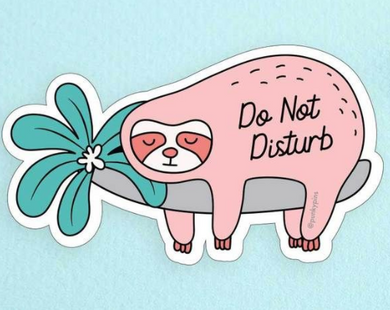 Do Not Disturb Sloth Sticker