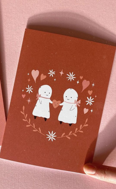 Ghost Couple with Heart Card w/ Envelope