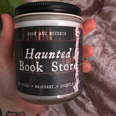 Haunted Book Store Candle