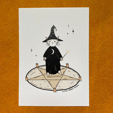 Witchcraft Cat Art Print