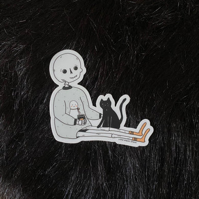 Self Care Skelly Sticker
