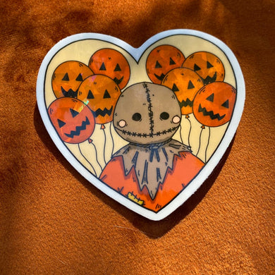 Trick r Treat Sam Prism Heart Sticker