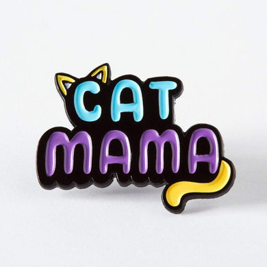 Cat Mama Enamel Pin