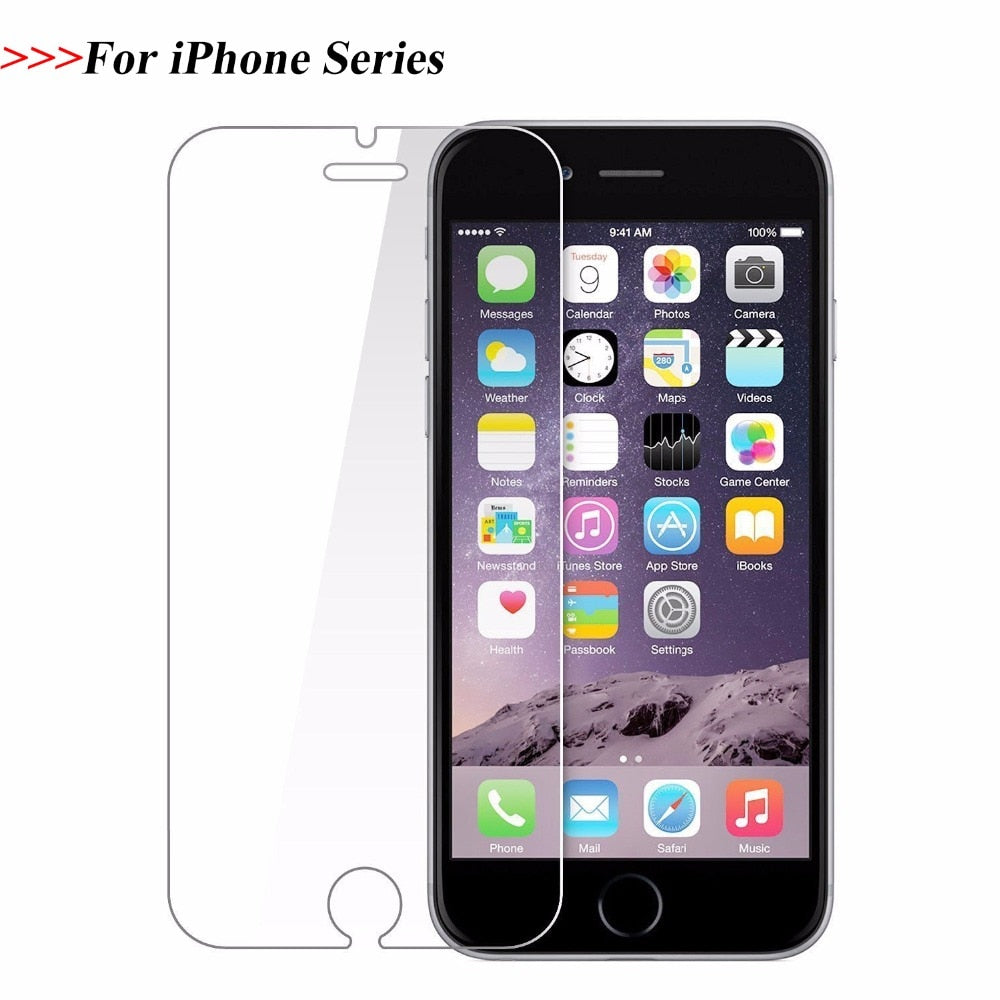 Tempered Glass for iPhone 6 7 8 SE 6S 5S 4S  X XR XS  6 7 8 Plus