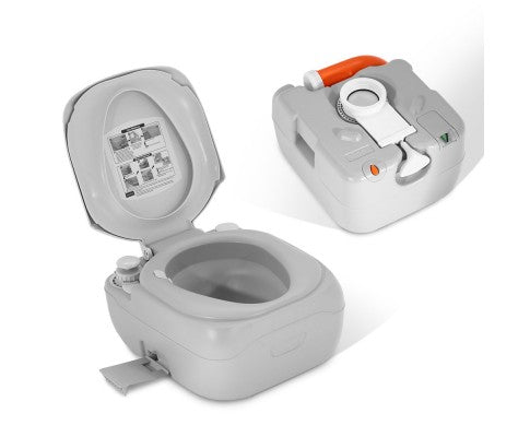 Portable Camping Toilet : Outdoor portable camping toilet 22l acetools