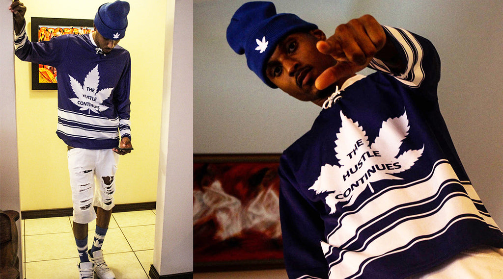 Caribbean fashion | hockey jersey the hustle continues
