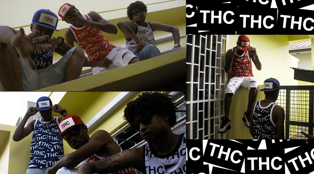 Caribbean fashion | THC graphic tank tops the hustle continues