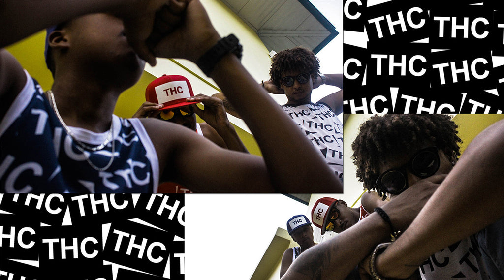 Caribbean fashion | THC graphic tank tops the hustle continues & snapbacks