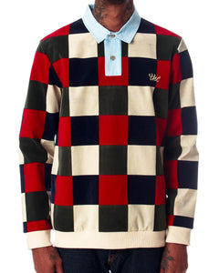 Checkered Vintage Rugby Polo