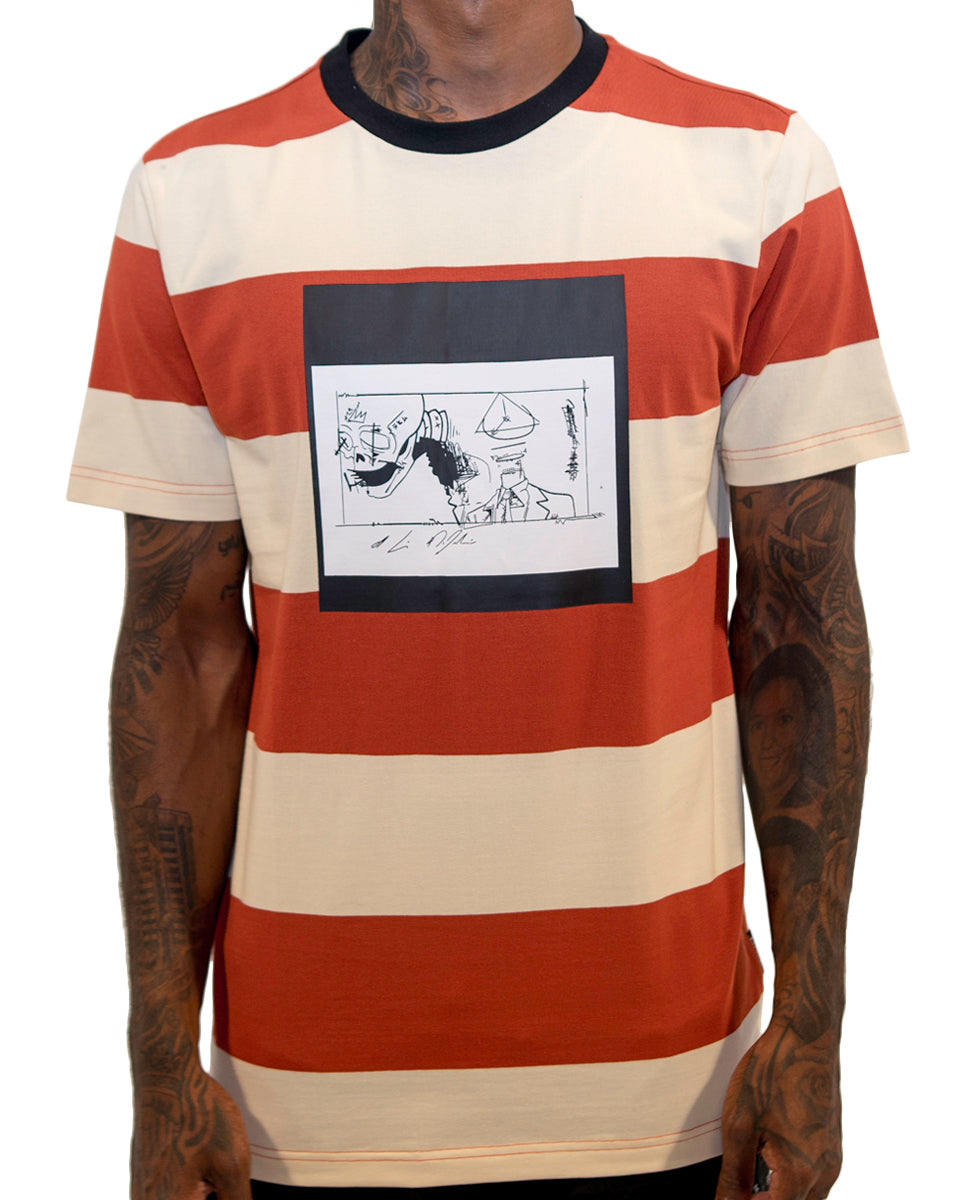 Out Of Time Stripe Tee | THC | Streetwear | urbanwear | hypebeast