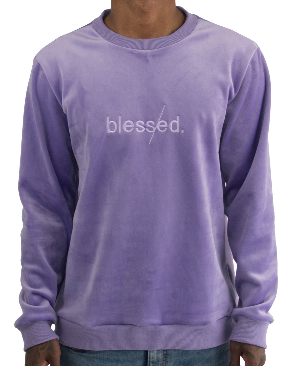 Blessed Velour Crewneck
