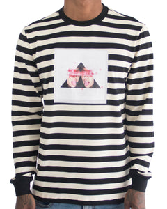 Her Lips Striped LS Tee (Black)