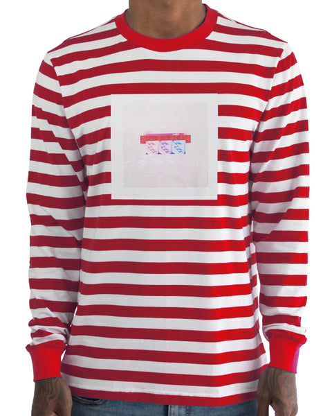 Her Lips Striped LS Tee (Limited)