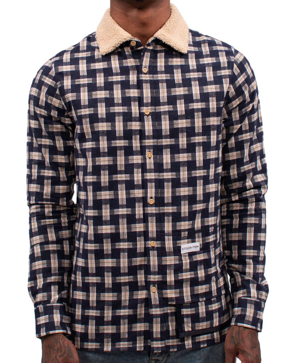 3D Plaid LS Shirt