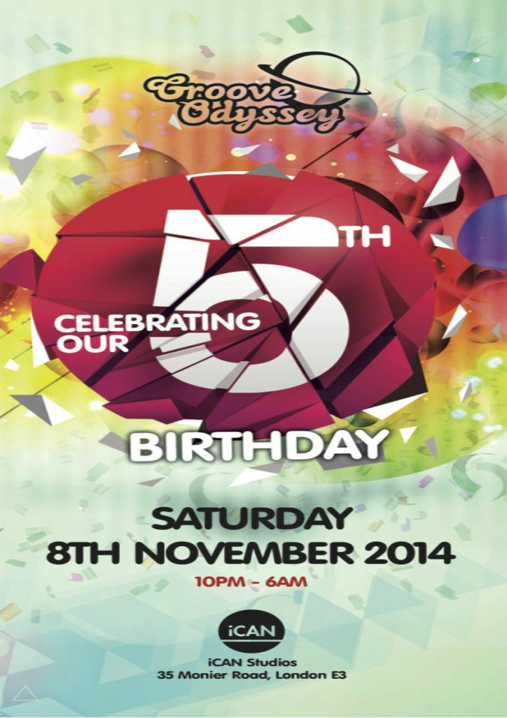 GROOVE ODYSSEY 5TH BIRTHDAY - 8TH NOVEMBER 2014
