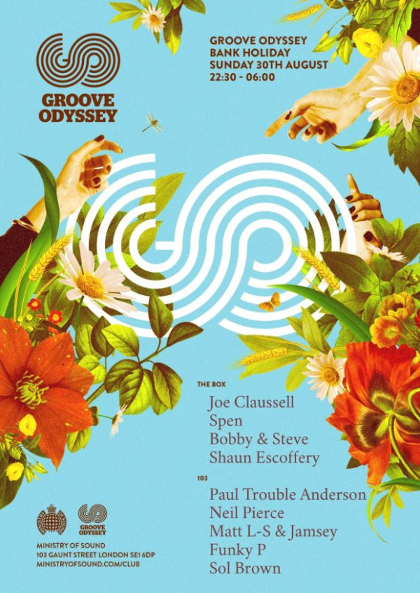 GROOVE ODYSSEY BANK HOLIDAY SUNDAY @ MINISTRY OF SOUND 30TH AUGUST 2015