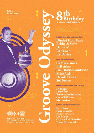 GROOVE ODYSSEY 8TH BIRTHDAY WITH DIMITRI FROM PARIS