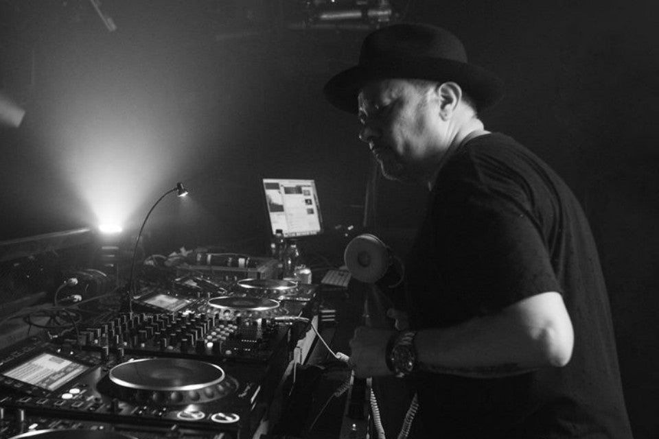 Louie Vega performing live in the box at London's Ministry of Sound for a Groove Odyssey Records party in 2018