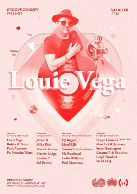 GROOVE ODYSSEY X LOUIE VEGA PLUS FRIENDS
