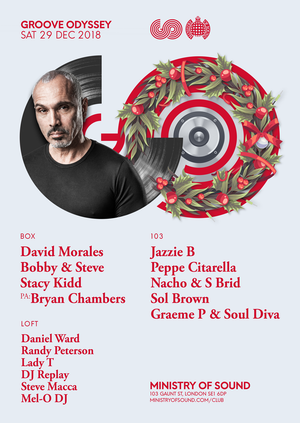 GROOVE ODYSSEY X DAVID MORALES END OF YEAR PARTY