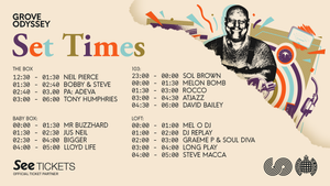 GROOVE ODYSSEY JUNE 1ST SET TIMES