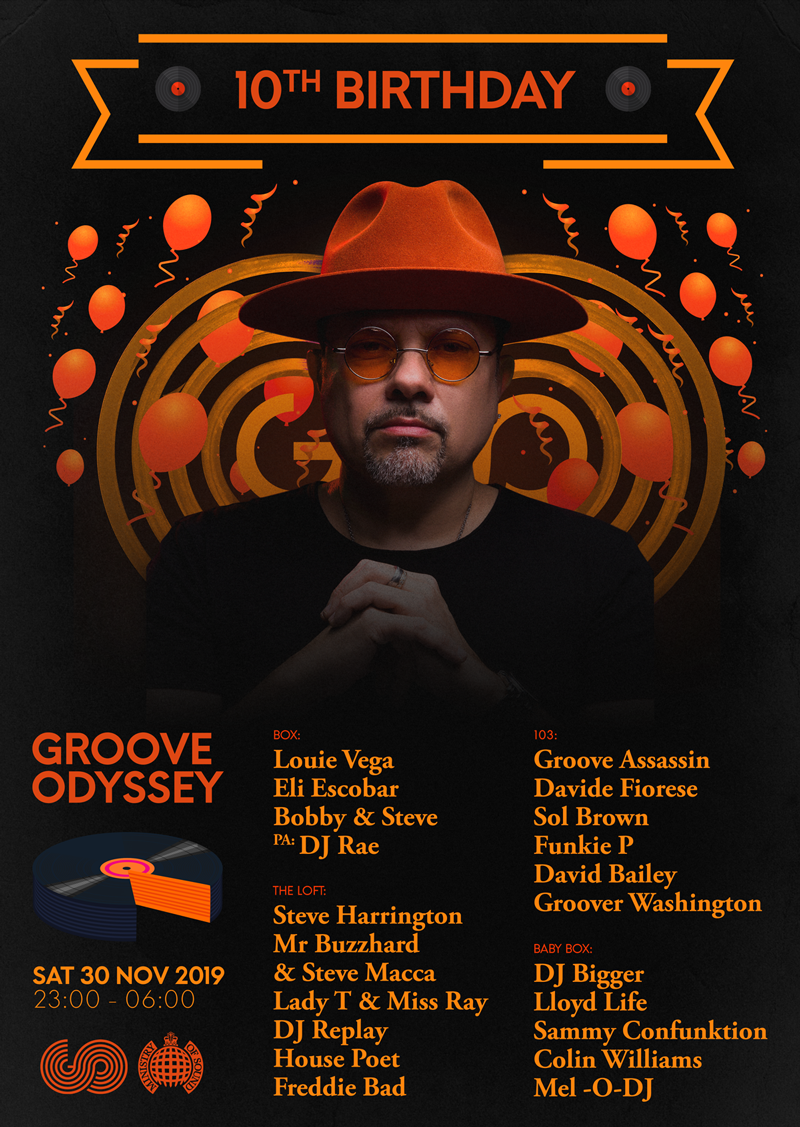 GROOVE ODYSSEY 10TH BIRTHDAY PARTY