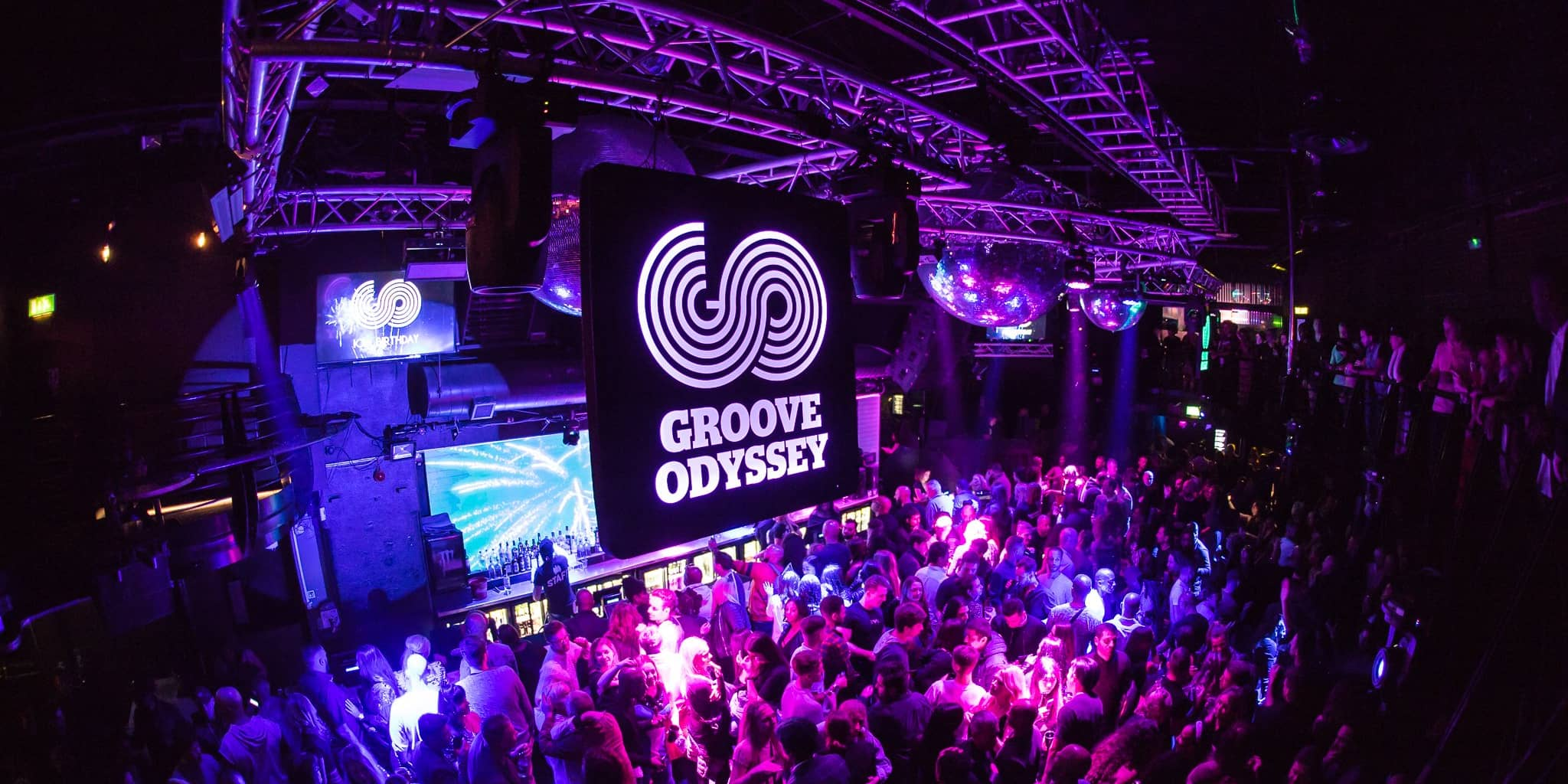 Groove Odyssey performing live in The Box at London's Ministry of Sound
