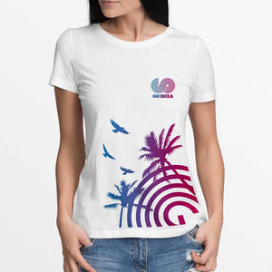 GO IBIZA PALM TEE - LADIES
