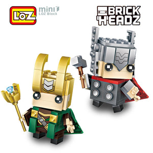 LOZ Brickheadz Thor Loki God Super Hero
