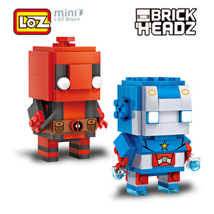 LOZ Brickheadz Ant Man + Deadpool 2in1