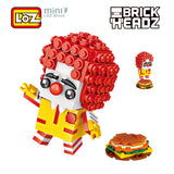 LOZ Brickheadz Clown MDonald Ronald Humburger Mini Building Blocks