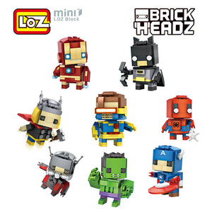 LOZ Mini Super Hero Blocks Batman Captain America Thor Iron man