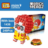LOZ Brickheadz Clown MDonald Ronald Humburger