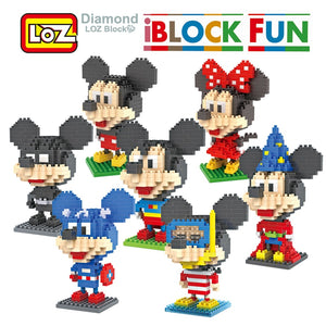 iBlock Fun Mickey and Minnie Superman Batman Magician Diver Captain America