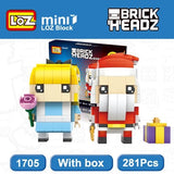 LOZ Santa Claus and Cinderella 2in1 Mini Building Blocks