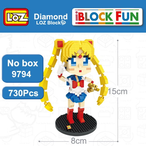 iBlock Fun Sailor Moon Tsukino Usagi Moon Crystal Power