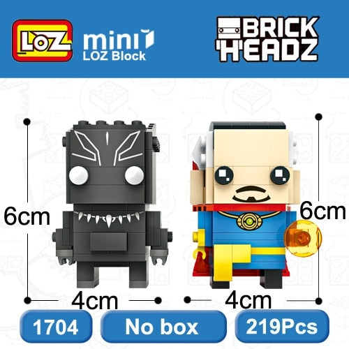 LOZ Brickheadz Wonder Woman and Superman