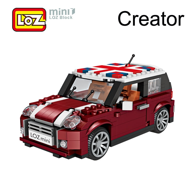 Loz Car Model Mini Cooper Car Toy Blocks 492pcs 1111 Loz Diamond
