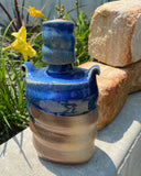 Blue Top Whiskey Flask