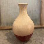Cream over Red Bottle/Vase