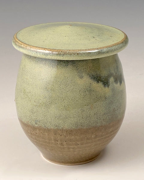 Green Jar with Runs