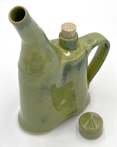 Green Spouted Flask